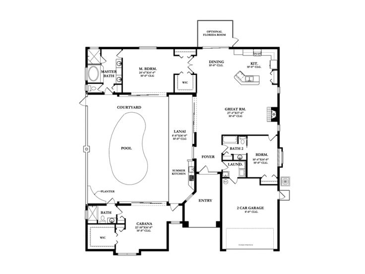 17 best images about home plans on pinterest 2nd floor for Courtyard house plans with pool