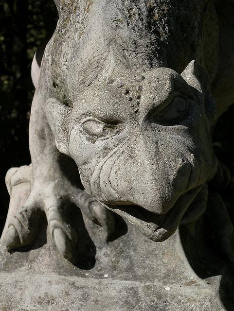 Gargoyle by Melusine77, via Flickr from the dreilandenpunt maze in the Netherlands