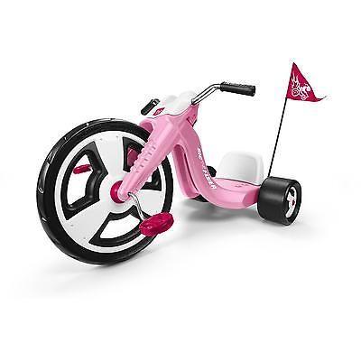 Kids Sport Trike Toy Tricycle Chopper Outdoor Pink Front Wheel 16 Inch Bike Big