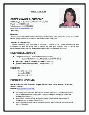 Resume Sample First Job