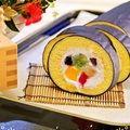 ホットケーキミックスHMで簡単お菓子♡節分に恵方巻きロールケーキ