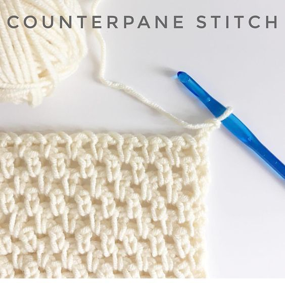How to Counterpane Stitch for Crochet - Daisy Farm Crafts #CrochetIdeas