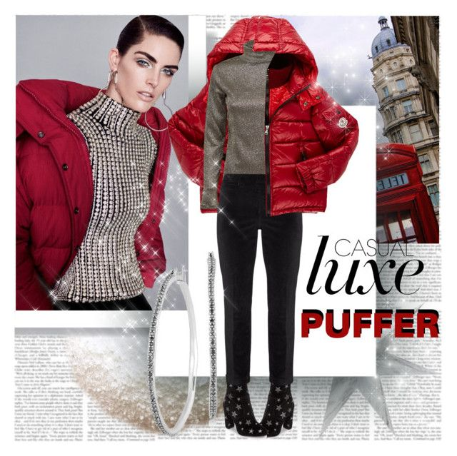 Casual luxe Puffer by stylepersonal on Polyvore featuring NYDJ, Steve Madden, Lucky Brand, Moncler, Therapy and puffers