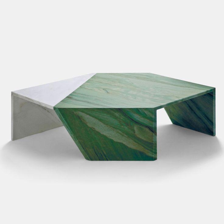 Origami Marble Table - Verde Acquamarina - Monologue London