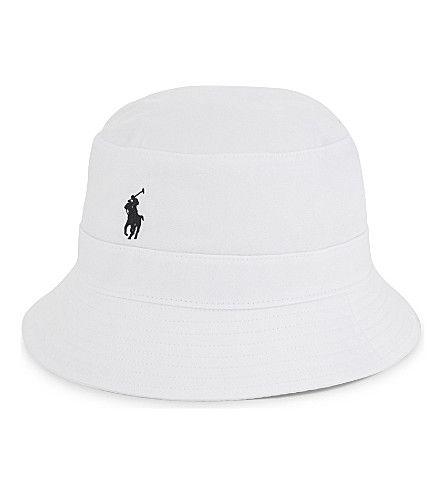 POLO RALPH LAUREN Cotton-Blend Bucket Hat. #poloralphlauren #hats