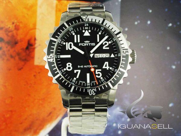 Fortis Marinemaster Automatic Watch, ETA 2836-2, Steel bracelet, 670.17.41