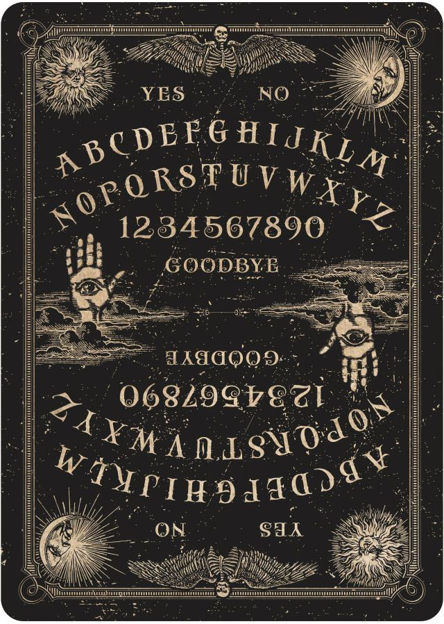 ORACLE - Mystifying Playing cards.  Talking boards, spirit photography, seances, ectoplasm, and levitating tables—the spiritualist movement has a rich history. I want to capture some of that history in a deck of USPCC playing cards.