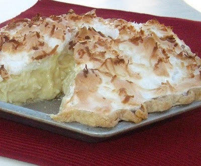 Coconut Cream Pie. This recipe is from my Twin's Blog... Cooking with K.  This is our mother's recipe. One of our many favorites.
