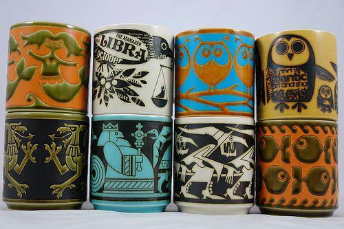 Fabulous Hornsea mugs by John Clappison