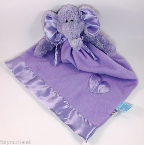 Details About Purple Elephant Lovey Security Blanket Baby