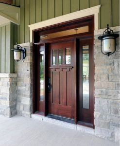 wood craftsman shaker doors  exterior doors entry doors for sale in michigan   arts and crafts doors