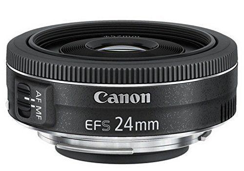 Canon EF-S2428STM Obiettivo Pancake 24 mm F/2.8 STM, Nero/Antracite [Versione EU]