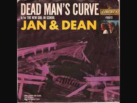 From 1964 - here's Jan & Dean singing the Jan Berry co-penned song 'Dead Man's Curve.' It would be one of the biggest hits for the Southern Cali singing duo.