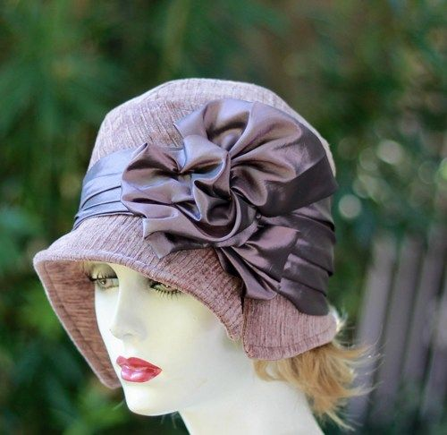 Beautiful Hand Made 1920's Flapper Cloche Hat in Violet Purple | creationsbygail - Accessories on ArtFire