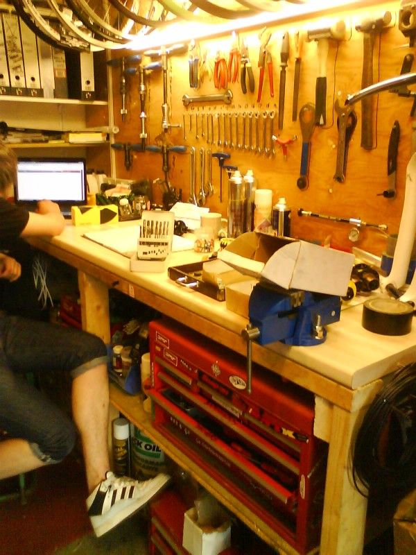 25 best images about bicycle workshop on pinterest for Home garage shop