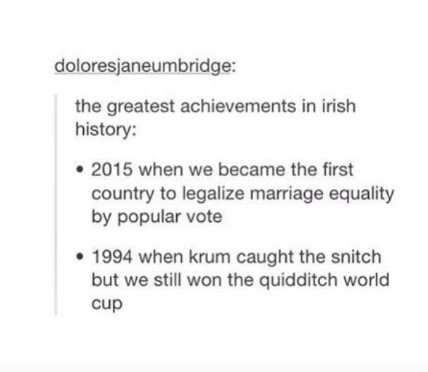 This matter of Irish pride: