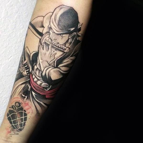 Wow 30 Foto Keren Zoro One Piece 70 One Piece Tattoo Designs For Men Japanese Anime Ink Ideas Download Wa In 2020 Anime Tattoos One Piece Tattoos Tattoos For Guys
