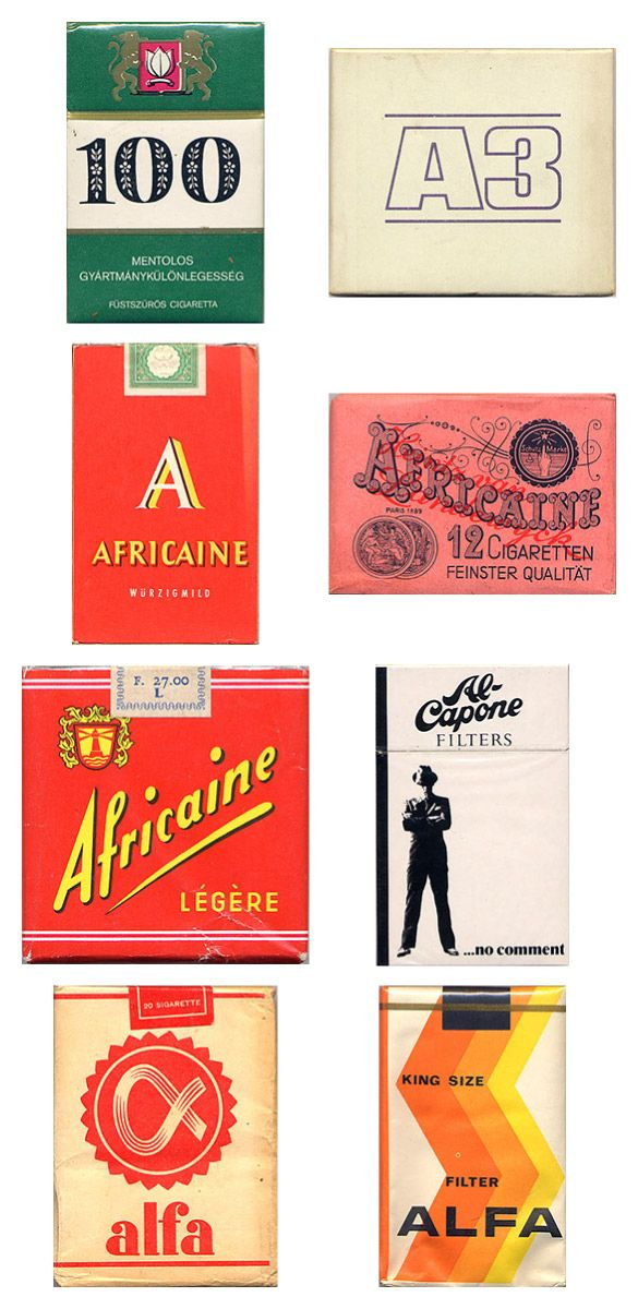 Awesome Vintage Cigarette PackageDesigns  You don't have to be a smoker to appreciate how cool these designs are.