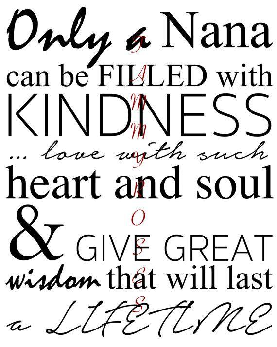 Nana Quote Printable by TammyRoses on Etsy