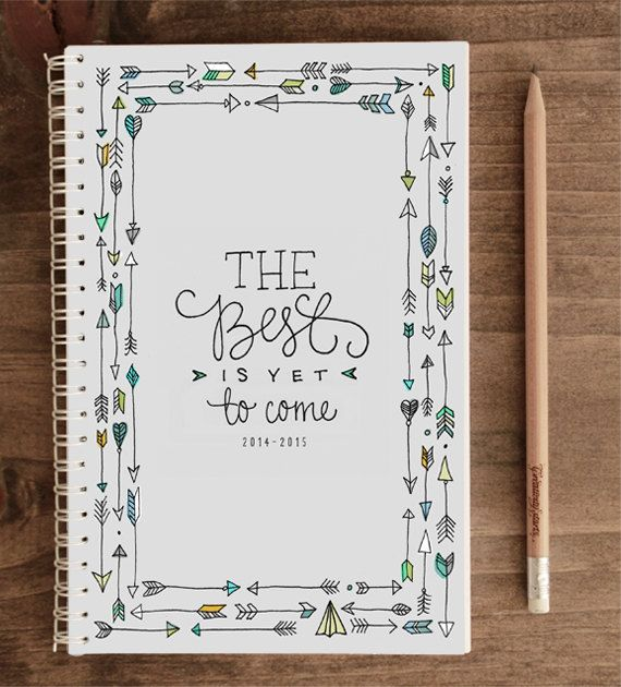 20142015 12month Academic Planner The Best Is Yet by ninjandninj, $25.00