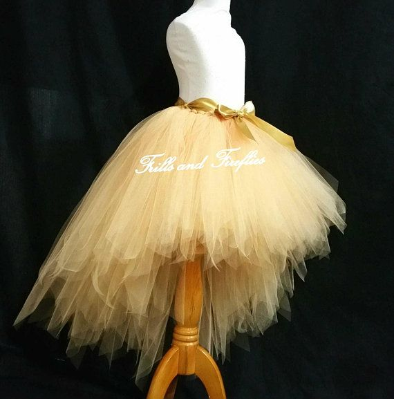Gold Hi Lo Tutu Skirt High Low Tutu Skirt Festival Etsy Burgundy Flower Girl Dress Flower Girl Dresses Berry Dress