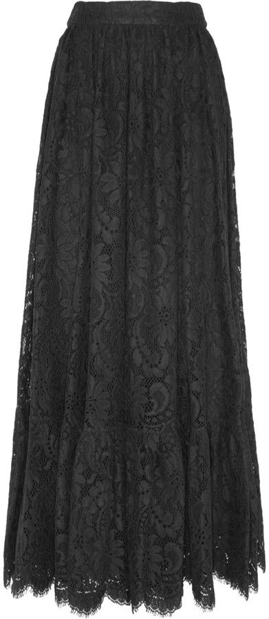 Dolce & Gabbana Cotton-blend lace maxi skirt on shopstyle.com.au