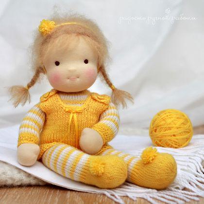 """Человечки ручной работы. Ярмарка Мастеров - ручная работа """"Солнышко мое"""", детская текстильная кукла. Handmade."""