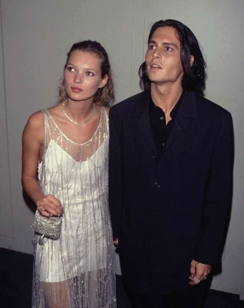 Kate Moss and Johnny Depp.