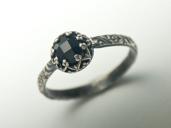 Black Onyx Ring Custom created in your size by BINSTER on Etsy...pretty