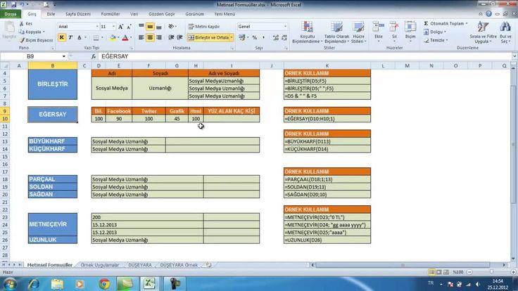 Excel Formüller http://www.fpajans.com