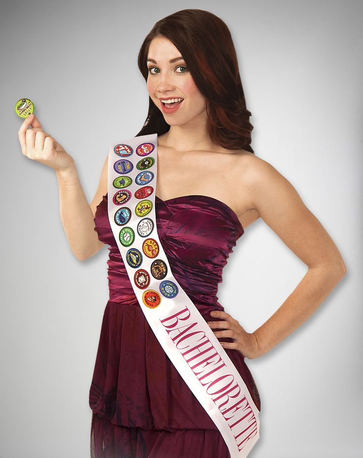 Party points to ME! I just found the Bachelorette Badges Sash & Badge Game from Spencer's. Visit their mobile website to get this item and more like it.