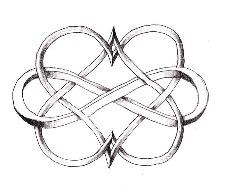 I love this Double Heart Infinity tattoo! mother and daughter tattoo?? @Teresa Cooper