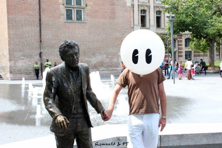 """""""Qu'il est loin mon pays, qu'il est loin."""" What is far my country, what is far."""" http://www.monsieurbidule.net/ http://romualdetpj.weebly.com  #Nougaro Toulouse"""