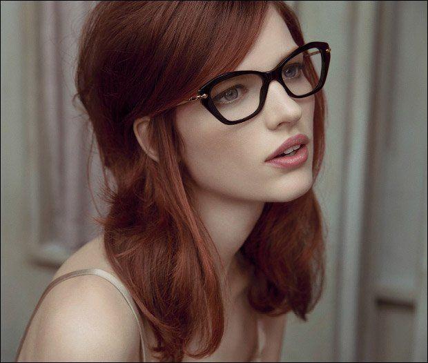 gorgeous glasses + hair