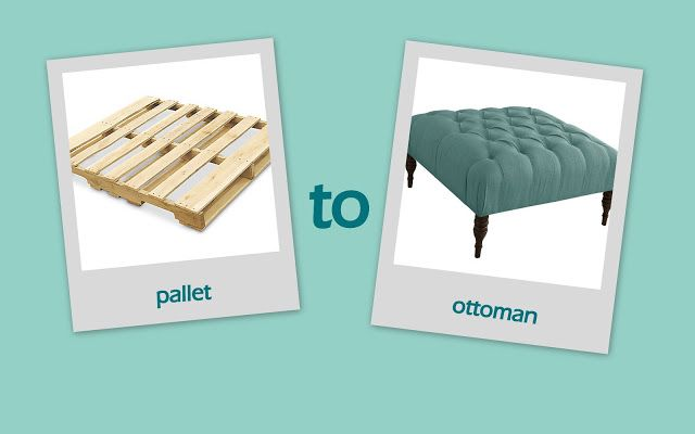 Newlywed Nesters: diy ottoman from a pallet