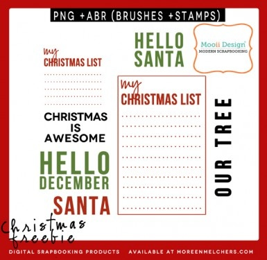 Scrapbooking or Project Life christmas freebie on my blog.   www.moreenmelcher...