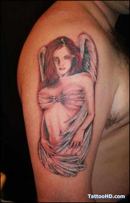 133 best collection of the cutest angel tattoos images on for Sexy angel tattoo