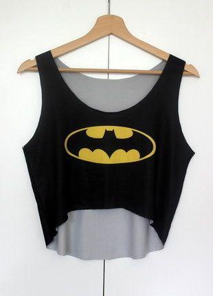 Kup mój przedmiot na #vintedpl http://www.vinted.pl/damska-odziez/koszulki-na-ramiaczkach-koszulki-bez-rekawow/18745306-krotka-bluzka-batman