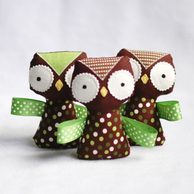 RESERVED for renatacarmen ..... Stuffed Owl Baby Rattle. $16.00, via Etsy.