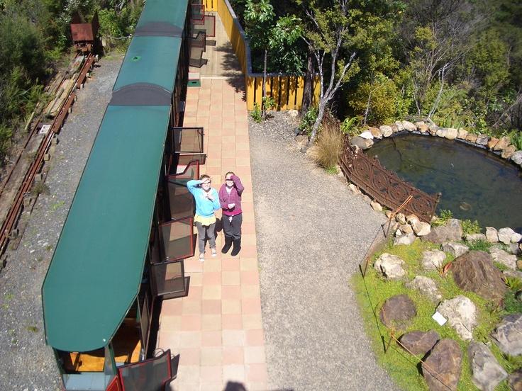 Driving Creek Railway was built in the Coromandel this mini railway line features views over the Coromandel Peninsular North Island.