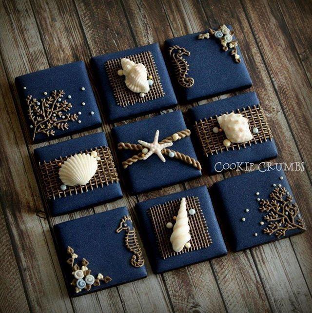 Nautical cookies. 今年最初で最後の夏モチーフクッキーになりそうです。 #cookiecrumbs #mintlemonade #icingcookies #icedcookies #icedbiscuits #decoratedcookies #cookies #nautical cookies #アイシングクッキー #クッキー