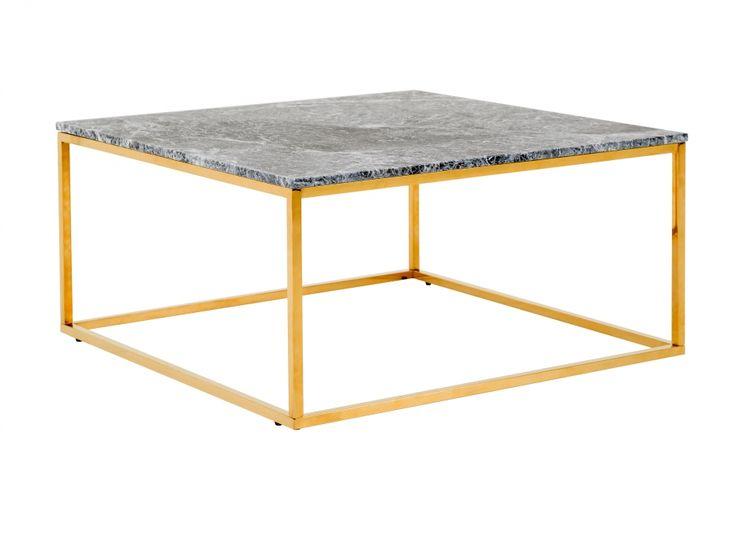 CARRIE Soffbord 90 Mässing/Grå i gruppen Inomhus / Soffbord hos Furniturebox (100-78-108032)