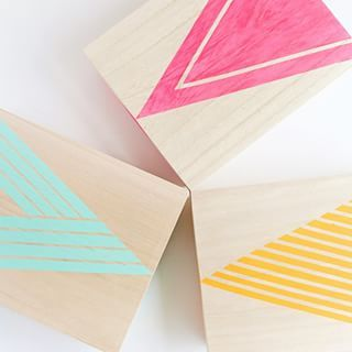 View from the top! Learn how to make these fun painted wood boxes #ontheblog! Hope everyone is having a crafty weekend