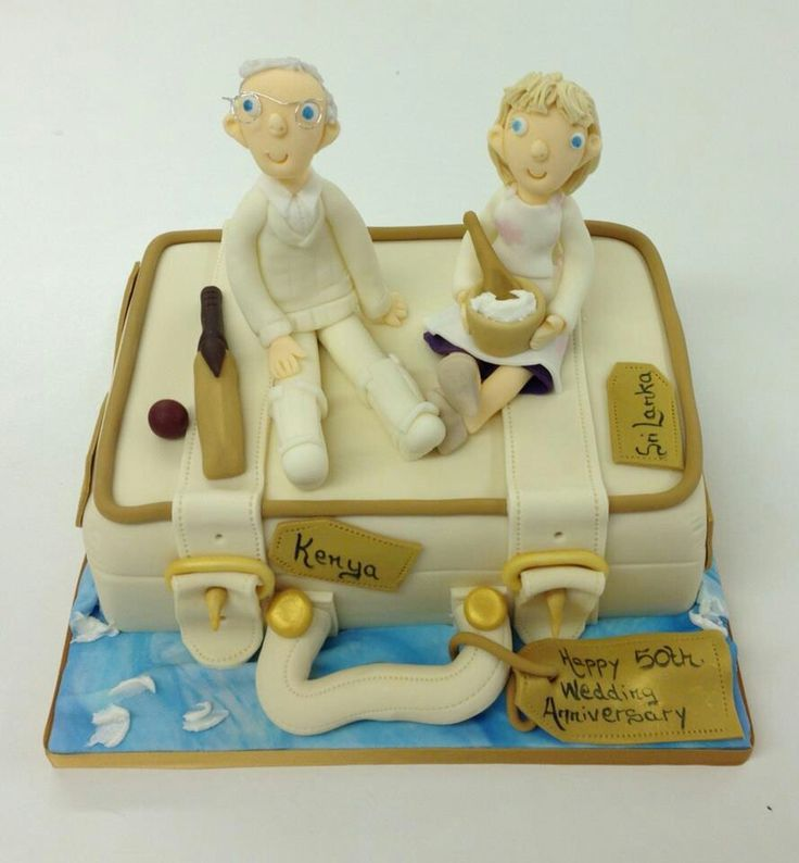 So nice to make a cake for such an active couple celebrating their Golden Wedding Anniversary