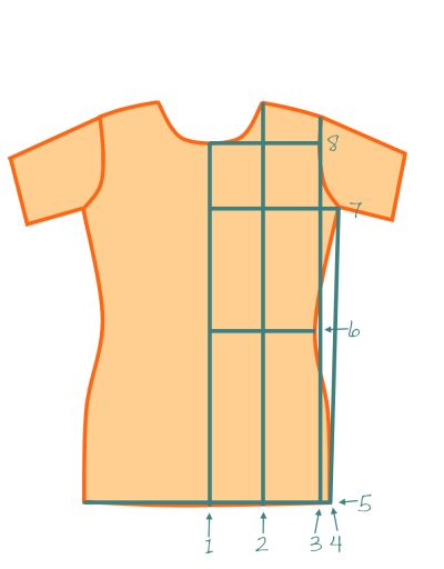 T-shirt drafting tutorial from the Mad Mim blog