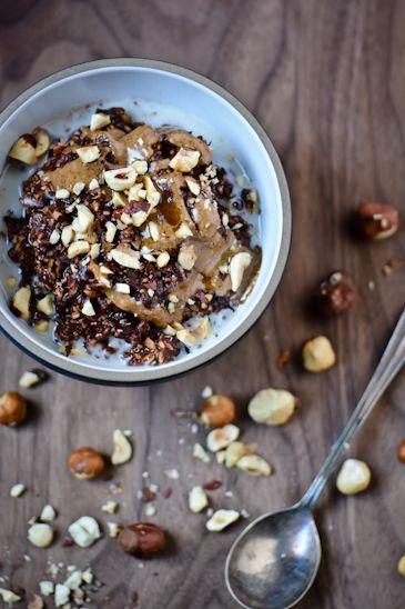 ... honey 1/2 cup rolled oats 1/2 cup steel-cut oats 1 teaspoon chia seeds
