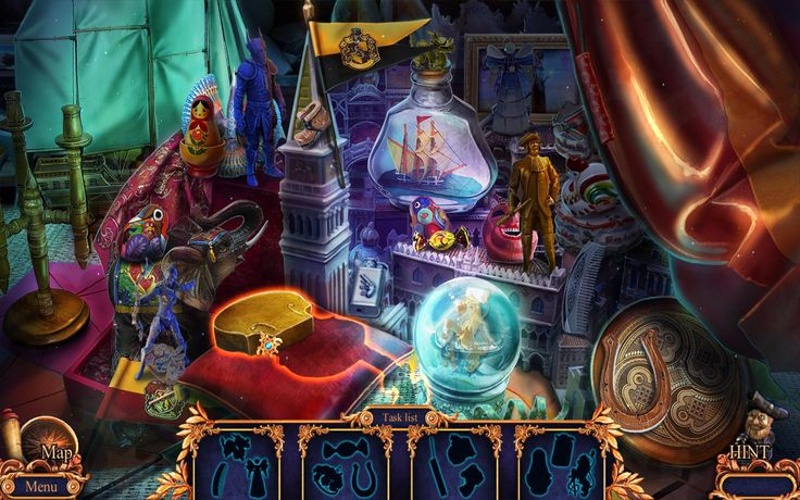 Second Hidden Object scene of Royal Detective 3.