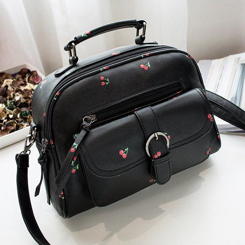 GET $50 NOW   Join RoseGal: Get YOUR $50 NOW!http://www.rosegal.com/tote/pu-leather-buckle-strap-cherry-881069.html?seid=2275071rg881069