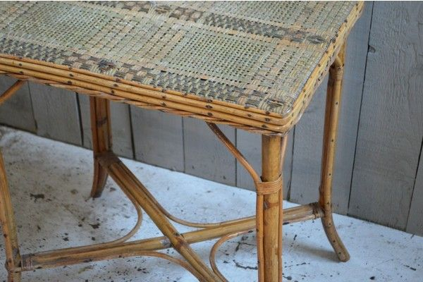 19th Century French Bamboo Table | vinterior.co