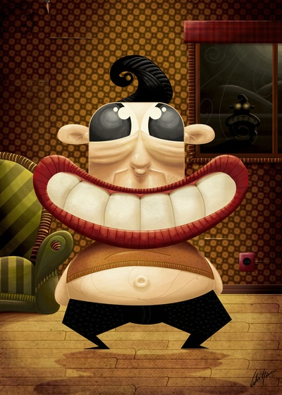 big smile Art print by Victor Beuren. Hahaha that's so funny smile!:D